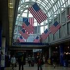米国の空港内風景