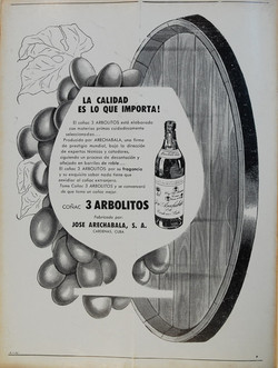 Anuncio Coñac Tres Arbolitos