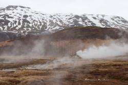 Geysir la petite maison geyser - Islande