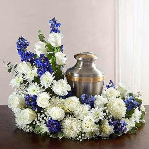 Blue and White Urn Arrangement