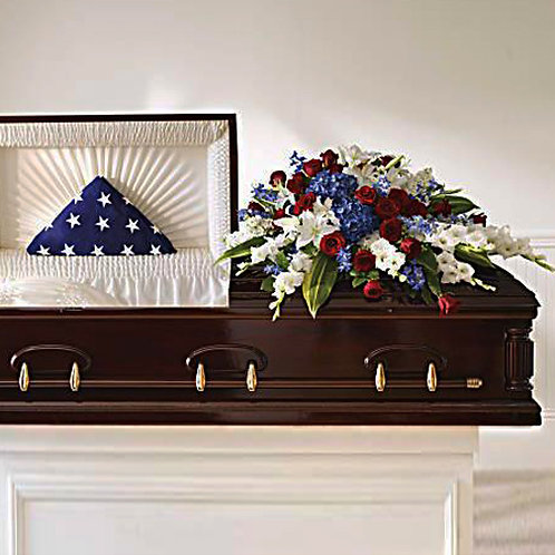 Military Half Casket Cover