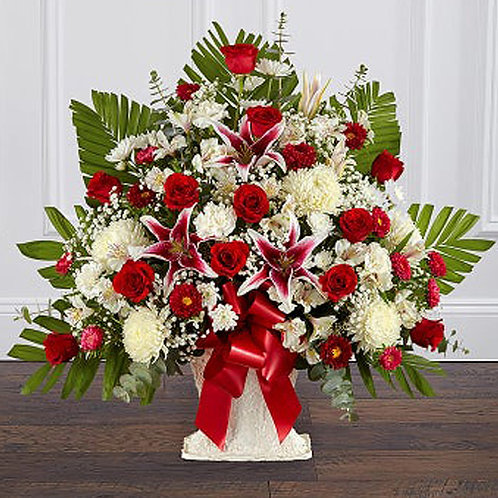 Rose and Lily Arrangement