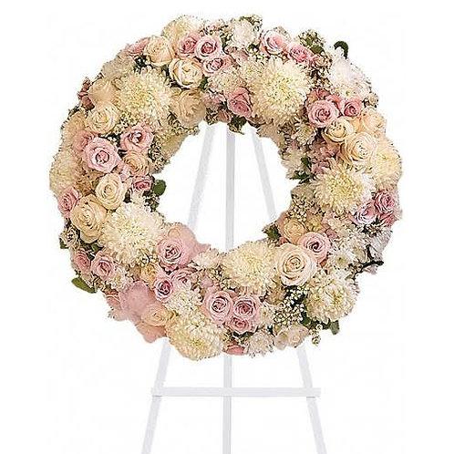 Pink Pastel Standing Wreath