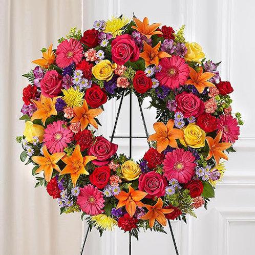Cherished Garden Standing Wreath