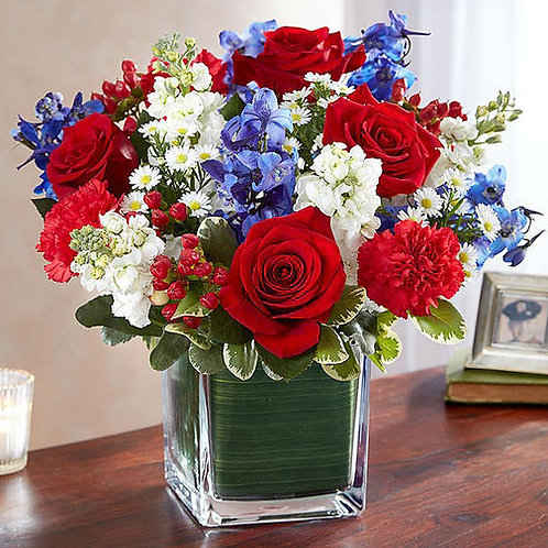 Red, White and Blue Arrangement