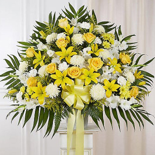 Yellow and White Arrangement