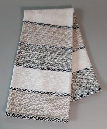 Handwoven Dish Towel: Stripes in Natural Fiber Colors