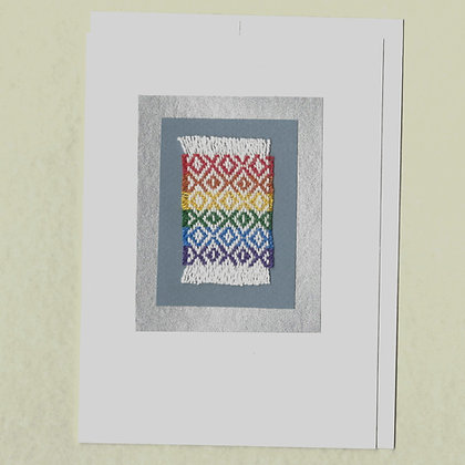 Card and evelope: rainbow