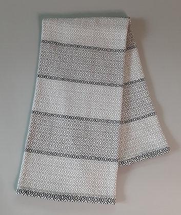 Handwoven Dish Towel: Gray stripes