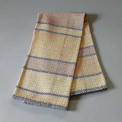Handwoven Dish Towel: Orange stripes