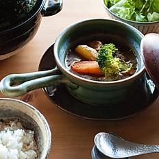 土鍋ごはんと土鍋スープカレー