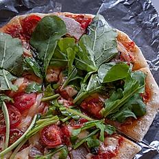 陶板焼き自家製パンチェッタとルッコラのピッツァ 10インチ