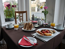 After a nights rest in a comfy bed, you can take breakfast in our dining room.