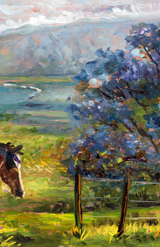 Upcountry Love -study 5' x 8' - oil on copper