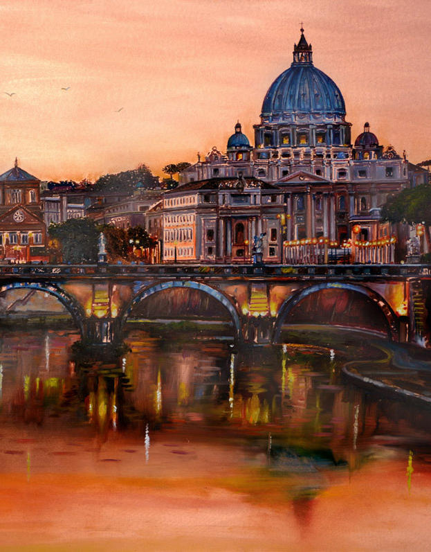 San Pietro 16%22 x 16%22 - oil on copper