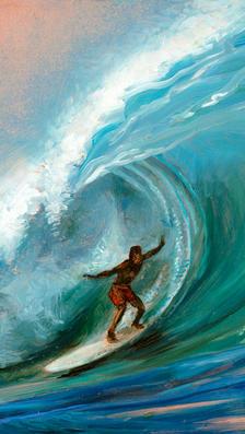 Big Wave oil on popper