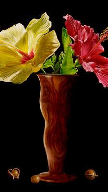 Colors of hawaii 20%22 x 24%22 - oil on koa