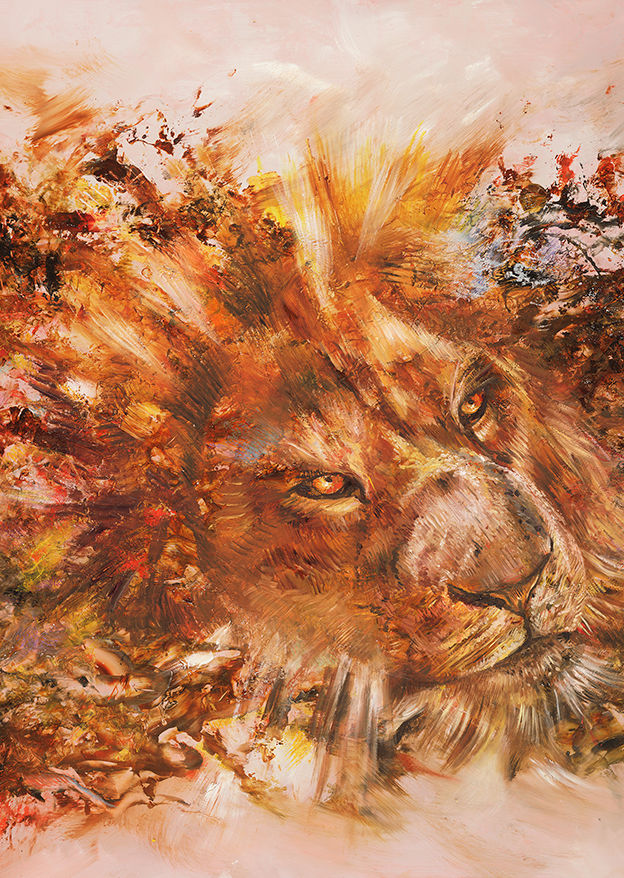 Mighty Lion - oil on canvas