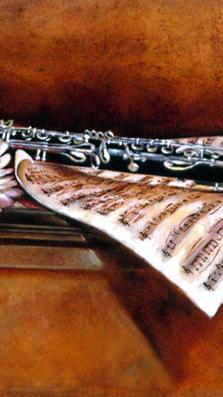 Clarinetto - study 20' x 28' - oil on paper