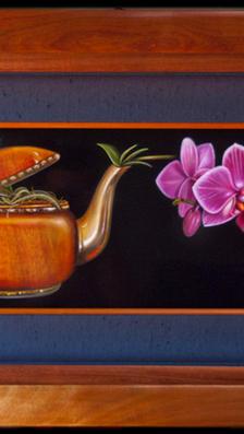 Orchid for Tea 9' x 23' - oil on koa woa