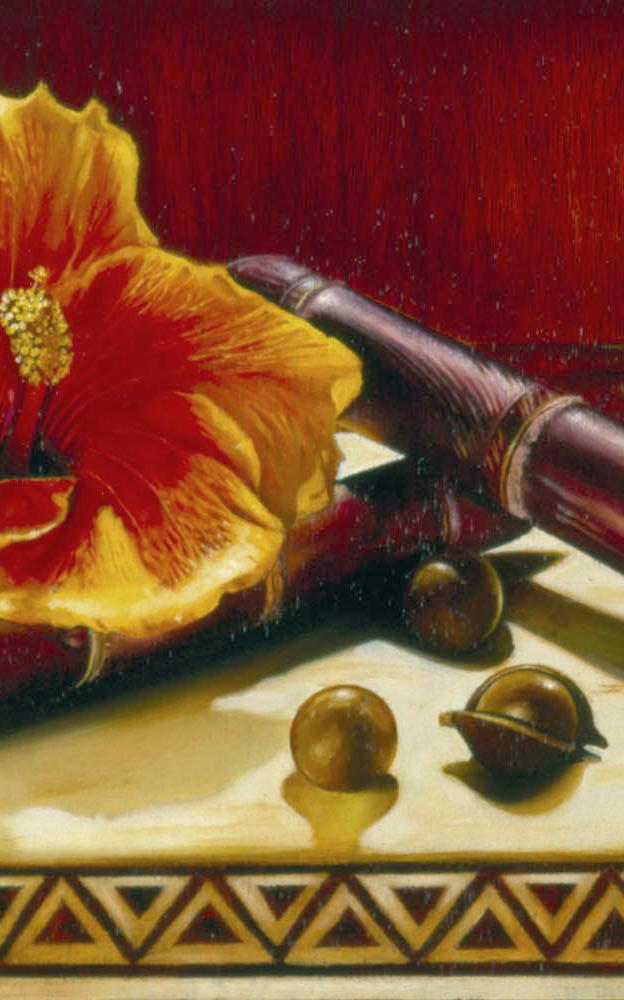 Sweet Maui 8%22 x 13%22 - oil on koa