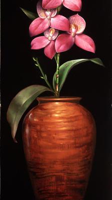 Summer Blooming 18' x 7' - oil on koa
