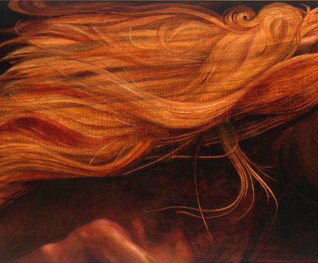 Freedom 13' x 35' - oil on koa