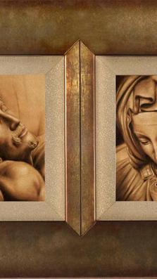 Pieta Diptick 2-10' x 8' - oil on canva