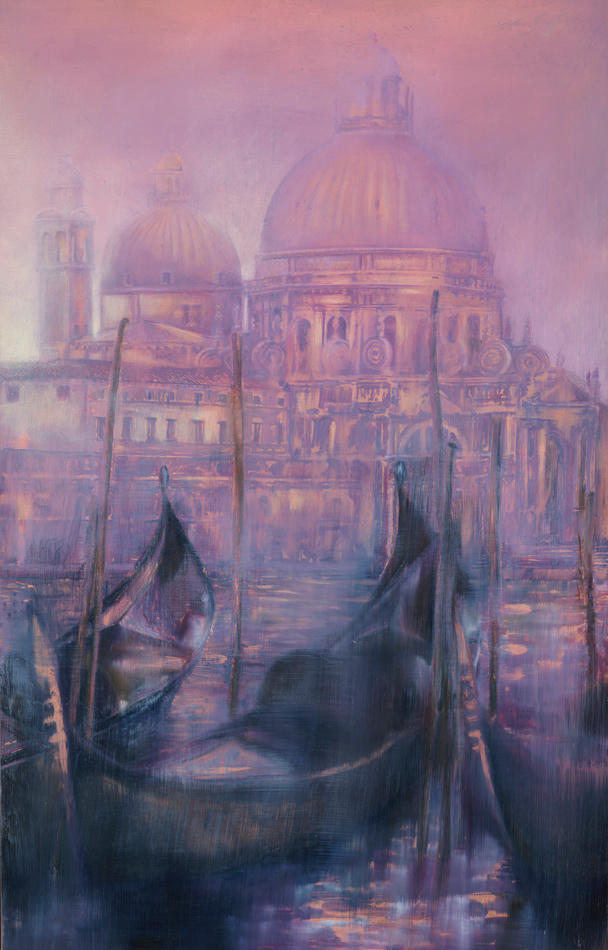 Venezia-Poetica 25%22 x 16%22 - oil on copper