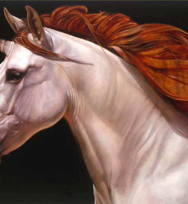 Unicorn 20' x 28' - oil on koa