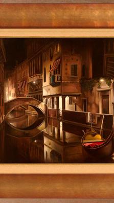 Venezia di Notte %2232 x 55%22 - oil on plaster