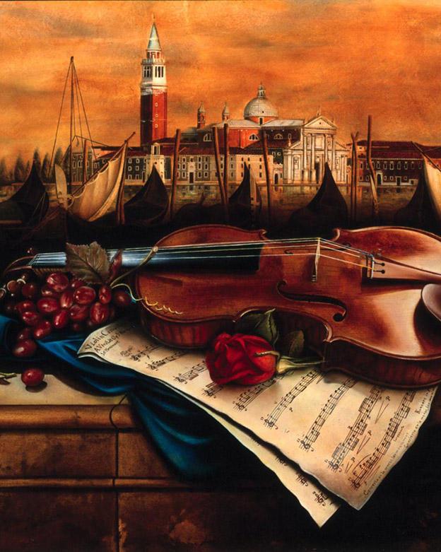 Vivaldi Concerto Number 19' x24' - oil on plaster