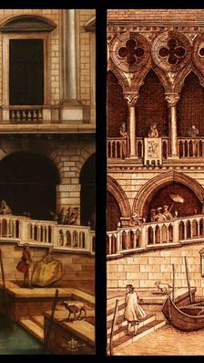 Carnevale in Venice 2- 20%22 x 28%22 - oil on masonite
