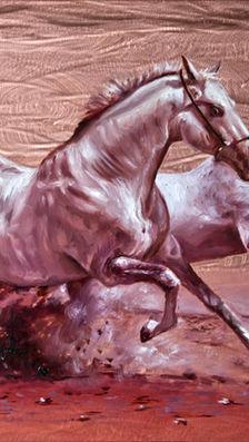 Soulmates 8' x 10'  - oil on copper