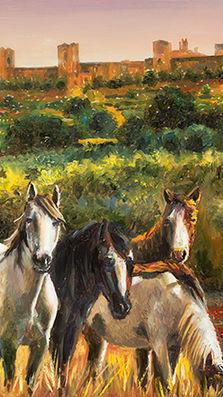 Cavalli a Monteriggioni