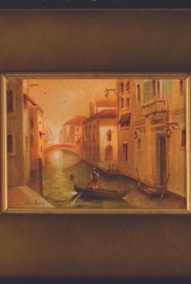 "Momenti Veneziani III 3 pan. 7"" x 5"" - oil on canvas"