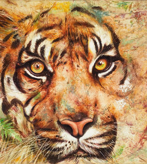 Jungle Beauty - oil on linen