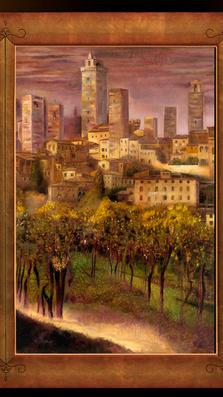 San Gimignano 43%22 x 60%22 - oil on masonite