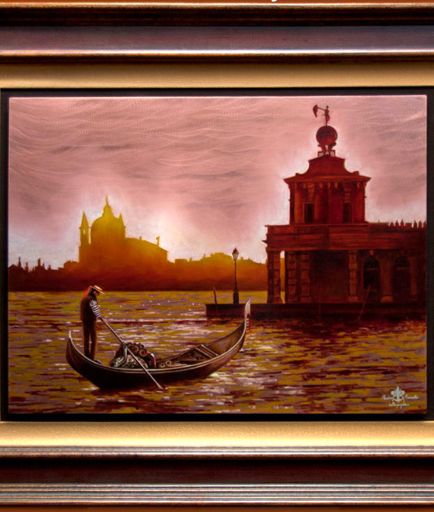 Tramonto Veneziano 18%22 x 24%22 - oil on copper