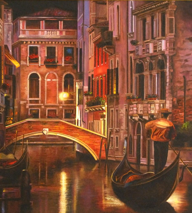 Colori in Venice 33%22 x 25%22 - oil on masonite