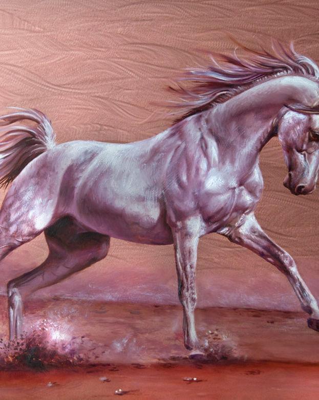 Regal Horse 12' x 16' - oil on copper