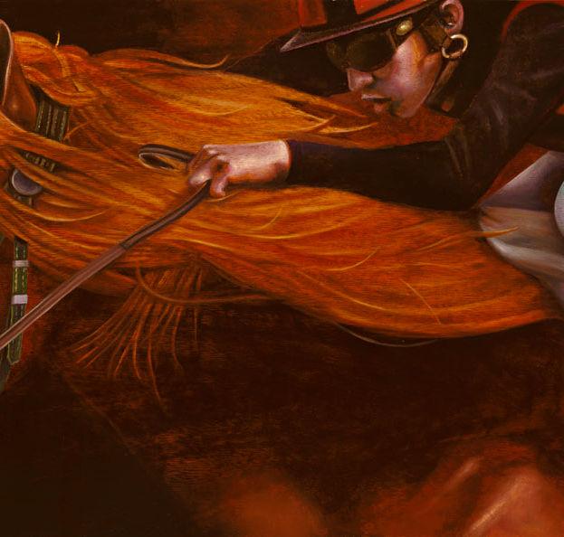 The winner 13' x 35' - oil on koa