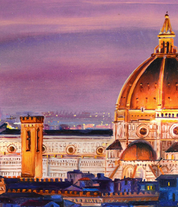 11) Santa Maria del Fiore 12%22 x 8%22 - oil on copper