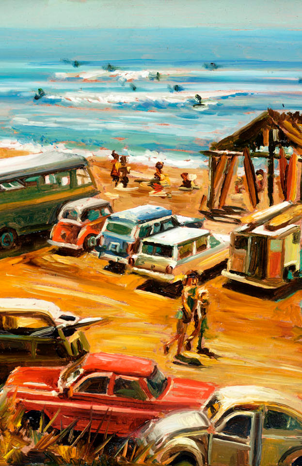 The old days oil on popper