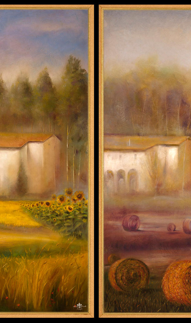 Toscana June & November 2- 31%22 x 13 - oil on masonite