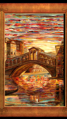Windows on Canal Grande 43x 60 - oil on masonite