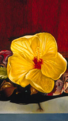 Flower of Aloha 9%22 x 13%22 L.E. 18 - oil on koa
