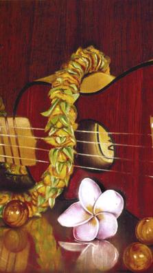 Hawaiian Melody- 15%22 x 8%22 - oil on koa