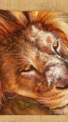 The king 16' x 35' - oil on koa slab