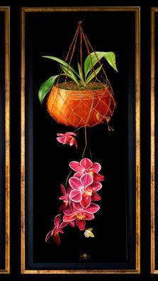 Orchid Symphony 49' x 65' - oil on koa
